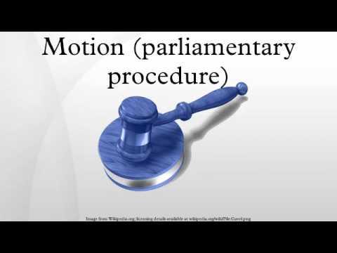 Motion (parliamentary procedure)