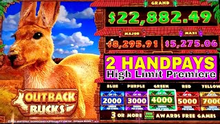 My BIGGEST HANDPAY JACKPOT on Mighty Cash Outback Bucks Slot Machine ! Live High Limit Slot Action