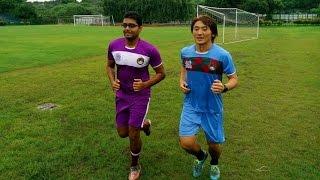 Mohun Bagan's Japanese heart-throb Katsumi Yusa joined the practice...