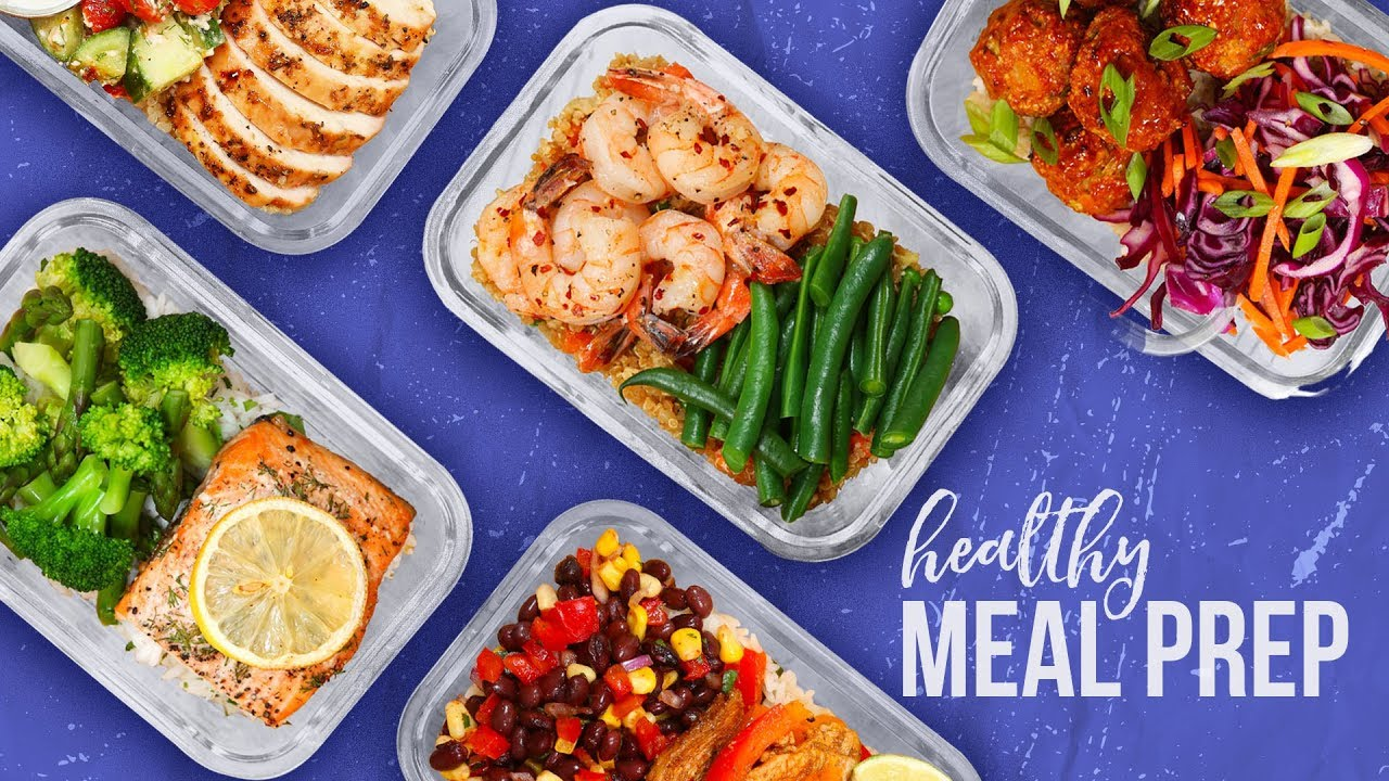 5 Healthy MEAL PREP Ideas | Back-To-School 2017 - YouTube