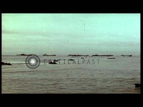 United States Marines in amphibious training exercises in the Pacific theater dur...HD Stock Footage