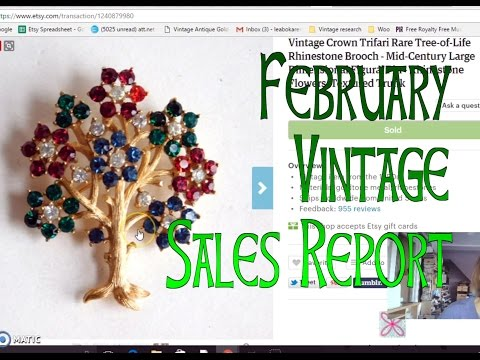 Diggin' with Dirty Girl S6E4: February 2017 Vintage Sales Report Etsy & Ebay