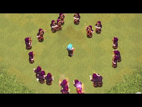 ICE WIZARD Vs. FIRE WIZARD! Clash of clans troll Raid| Will the Ice wizard win?