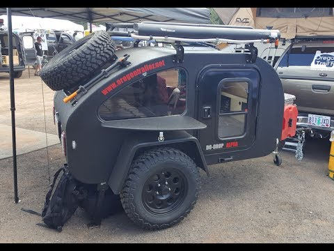 """mini"" off road tear drop trailer by Oregon Trail'R :Offload Expo 2017"