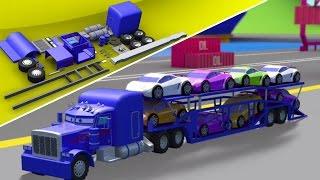 auto pengangkutan trak | kenderaan 3d untuk kanak-kanak | Kids Video | Auto Transport Truck
