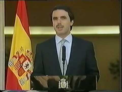 Aznar - Rueda de prensa en Moncloa sobre la Tregua de ETA