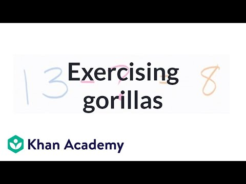Exercising Gorillas | Addition And Subtraction Within 20 | Early Math | Khan Academy