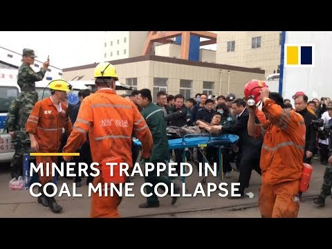 China coal mine cave-in: race to rescue miners trapped after deadly collapse