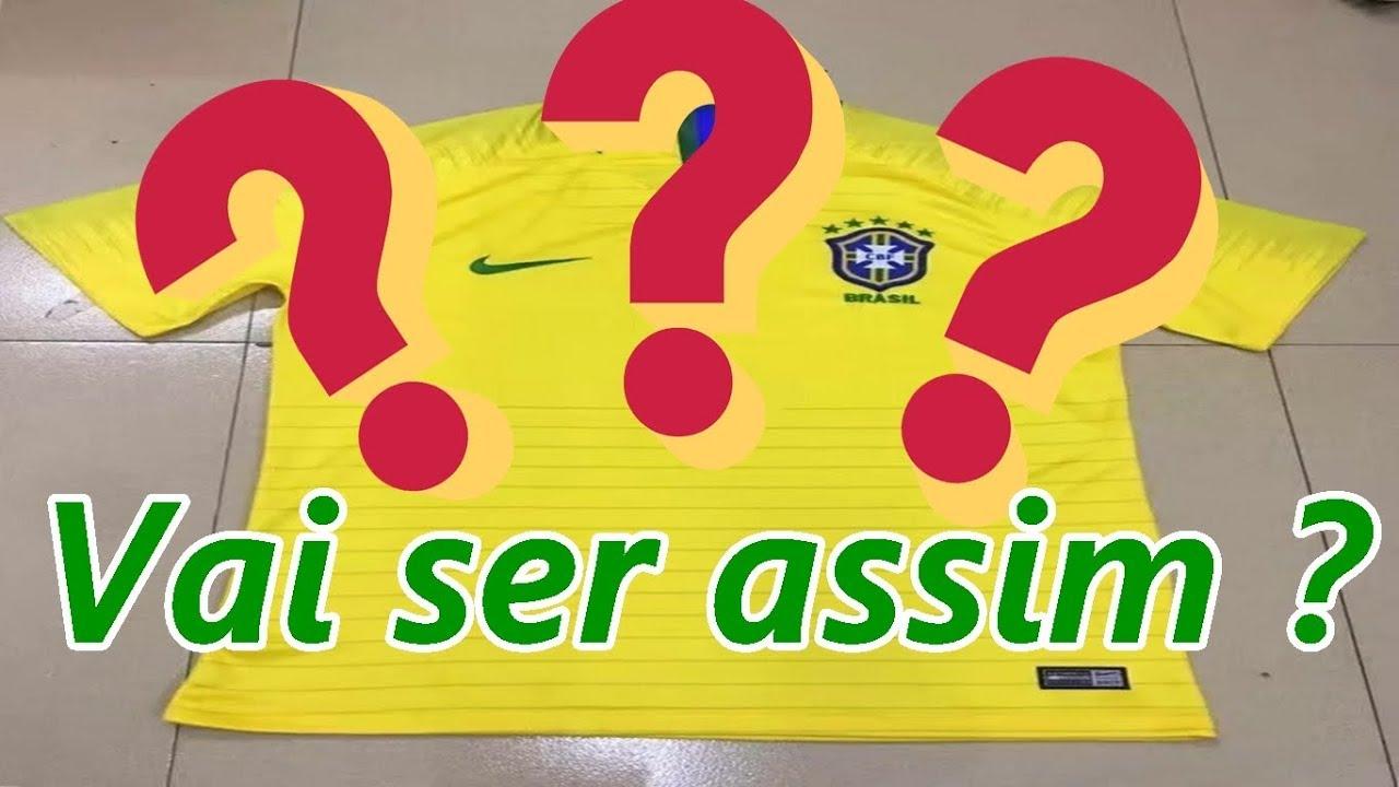 Suposta camisa da seleção brasileira para a copa de 2018 !  Rússia2018 2fc5e473ec919
