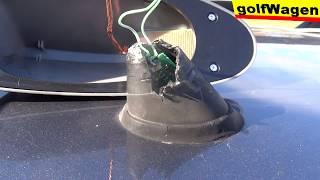 VW Golf 5 broken radio antenna repair FIX volkswagen