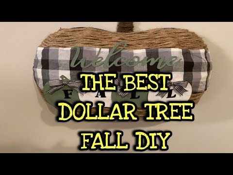 DOLLAR TREE PUMPKIN WREATH FORM FALL DIY | DOLLAR TREE DIY WELCOME FALL