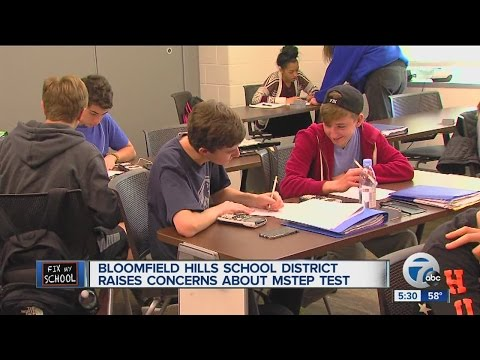 Bloomfield Hills school district raises concerns about MSTEP test