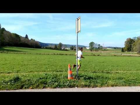 Petit passage du trail des sangliers à Pontarlier le 28 septembre 2014