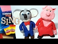 SING MOVIE Buster Moon Koala and Gunter Pig Play Doh Figures | How to Make Sing Characters tutorial