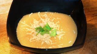 Roasted Garlic Soup - Molecular Gastronomy Method  /recipe