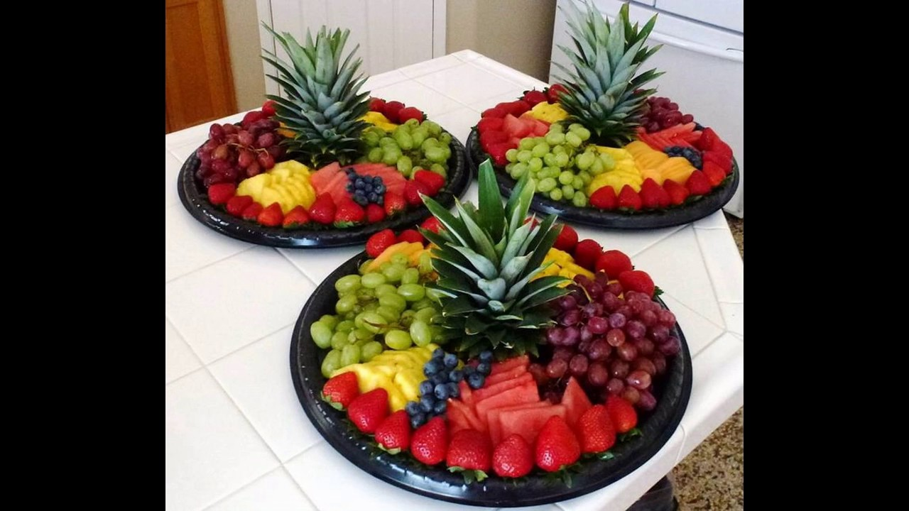 Fruit decoration for parties youtube for Decoration fruit