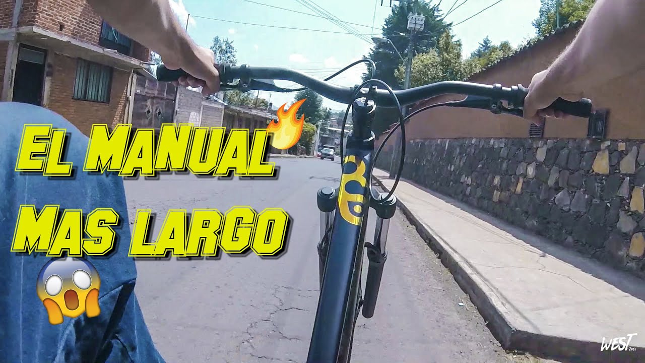 RETO Manual Más Largo!  Es un poco mas dificil en esta BIKE 🔥(tag de mis bikes)