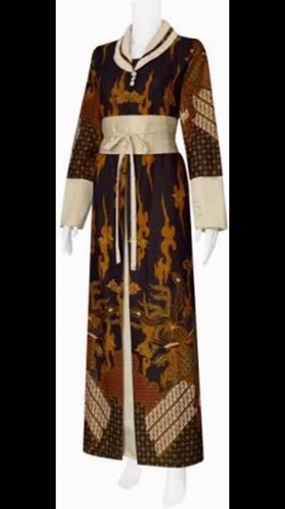 Model Gamis Batik Kombinasi Modern Terbaru Gamis Batik Pesta 576adc92