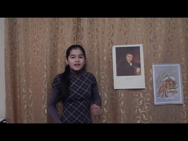 Изображение предпросмотра прочтения – СаминаАминова читает произведение «Ворона и Лисица» И.А.Крылова