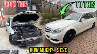 I Restored This Crashed Mercedes.. HOW MUCH DID IT COST?