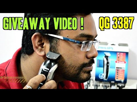 Philips QG3387 Multi Grooming Kit/Shaver/Trimmer REVIEW   Give away Question   Ur IndianConsumer