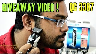 Philips QG3387 Multi Grooming Kit/Shaver/Trimmer REVIEW | Give away Question | Ur IndianConsumer