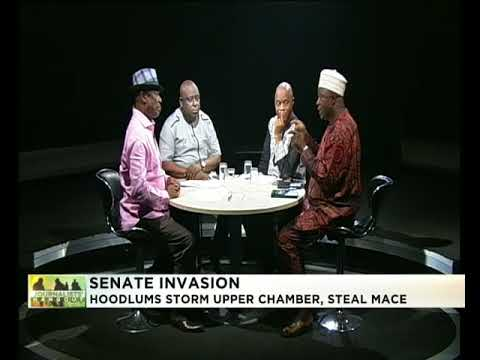 Journalists' Hangout 18th April 2018 | Hoodlums invade NASS, steal Senate's Mace