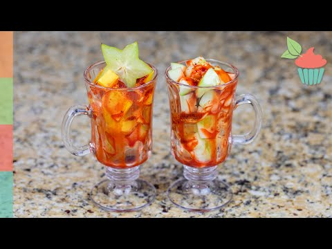 Mexican Fruit Cups - Chamoy And Tajin | Snack Attack!