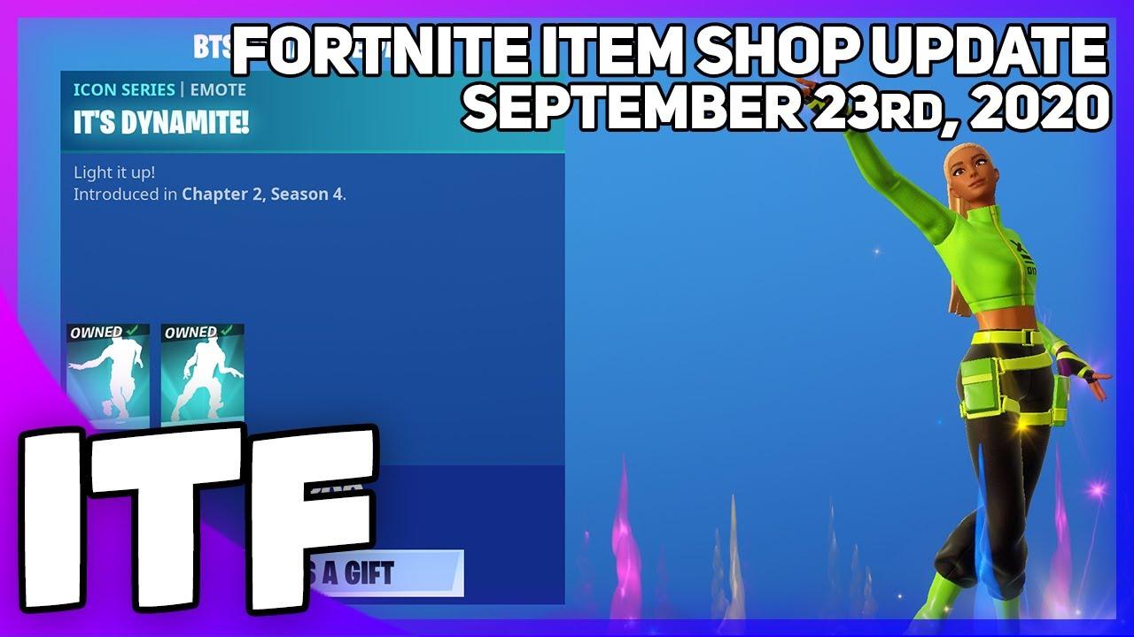 Fortnite Item Shop *NEW* BTS EMOTES! [September 23rd, 2020] (Fortnite Battle Royale)