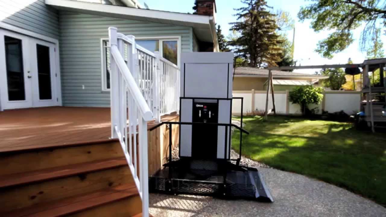 exterior wheelchair lift. freedom wheelchair lift for home - accessibility professionals youtube exterior