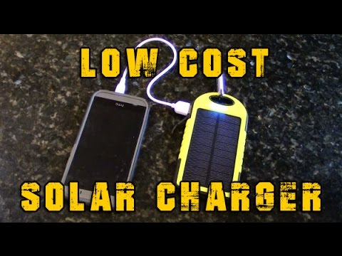 $15 Portable Solar Charger For Emergency, Bug Out Bags And Camping