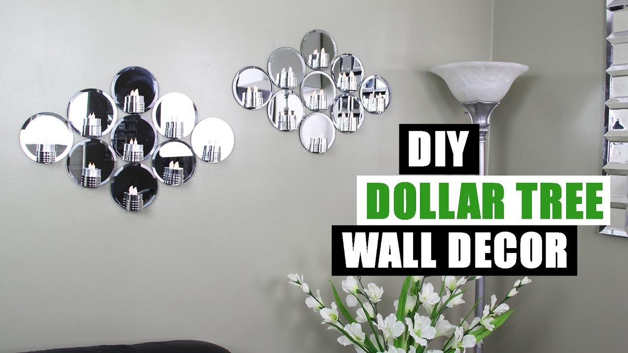 DIY DOLLAR TREE MIRROR WALL DECOR Dollar Store DIY Glam