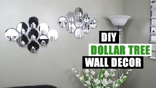 DIY DOLLAR TREE MIRROR WALL DECOR Dollar Store DIY Glam Mirror Candle Holder Wall Art