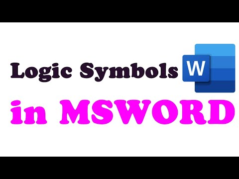 How To Input Propositional Logic Symbols Into MSWord