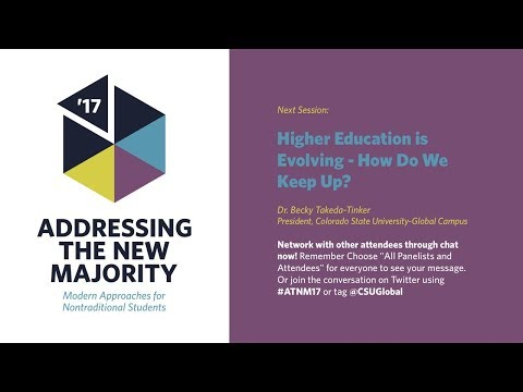 ATNM 2017: Higher Education is Evolving - How Do We Keep Up?