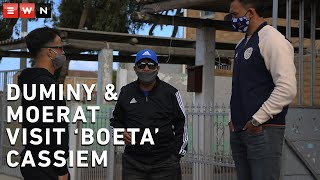 For more than 55 years Boeta Cassiem has seen the best sports stars perform at Newlands rugby and cricket stadiums, week in and week out.  He's rubbed shoulders with the best. But never did he expect to see them show up on his doorstep.  That's exactly what happened on Thursday, when Proteas legend JP Duminy and Stormers rising star Salmaan Moerat paid the Newlands legend a visit at his home in Mitchell's Plain.