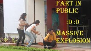MASSIVE EXPLOSION || FART PRANK IN PUBLIC || PRANK IN CITY CENTER || PRANKOFY