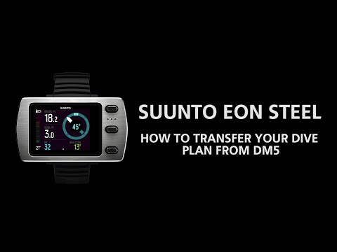 Suunto EON Steel - How To Transfer Your Dive Plan From DM5