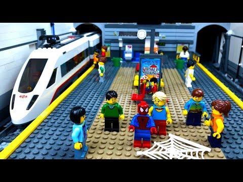 Мультфильм лего поезда