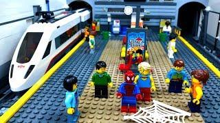 ЛЕГО Мультики 🔴 ОСТОРОЖНО! Метро 🚇 Человек Паук - Супер Герой