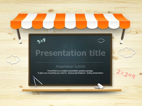 Blackboard animated powerpoint template youtube blackboard animated powerpoint template toneelgroepblik Images