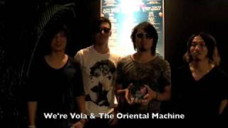 Vola & The Oriental Machine talk to NME.com in the catering area at Summer Sonic 2009 near Tokyo, Japan. Vola are a fast-rising band in Japan, where their ...