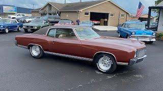 Test Drive 1971 Chevrolet Monte Carlo SOLD $13,900 Maple Motors #1201