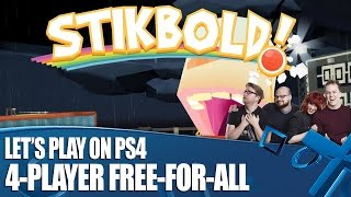 Stikbold! Let's play on PS4 - PlayStation Access Deathmatch!