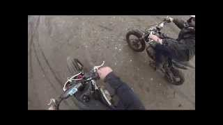 pit bikes in the mud