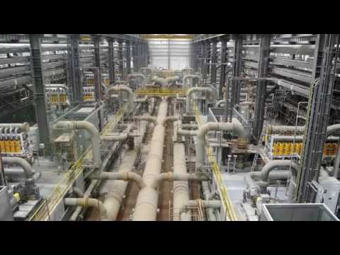 The technology used in the desalination of seawater