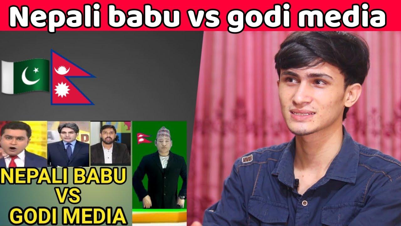 Nepali Babu Vs Godi Media | Godi Media | India Vs Nepal | Pakistani Reaction