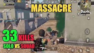 Massacre In Pochinki | Solo Vs Squad 33 Kills | PUBG Mobile thumbnail