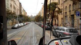 Prague tram line 6 (Sporilov - Smichovske nadrazi)