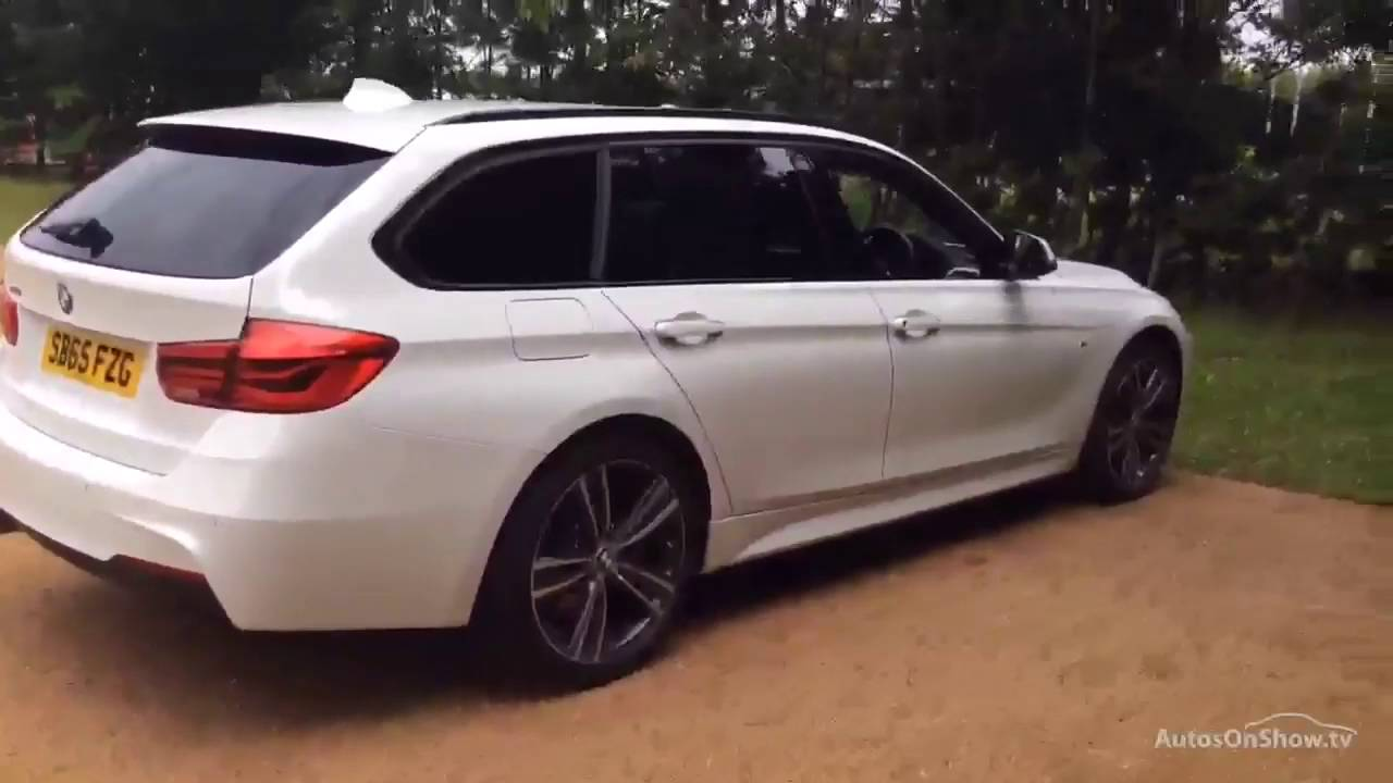 bmw 3 series 320d xdrive m sport touring white 2015 youtube. Black Bedroom Furniture Sets. Home Design Ideas